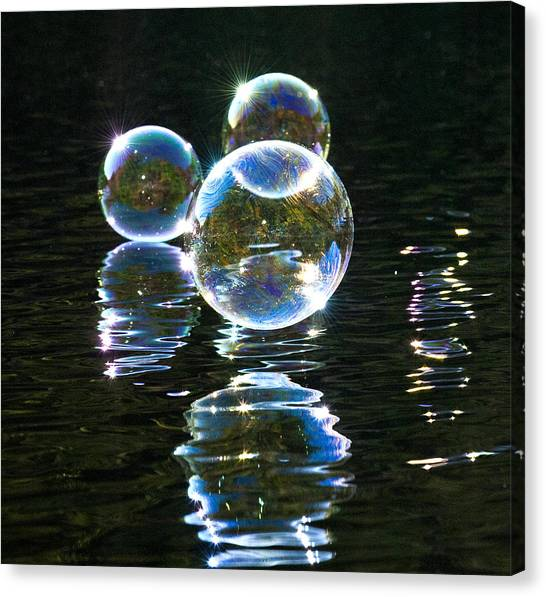 The Bubble Worlds Canvas Print