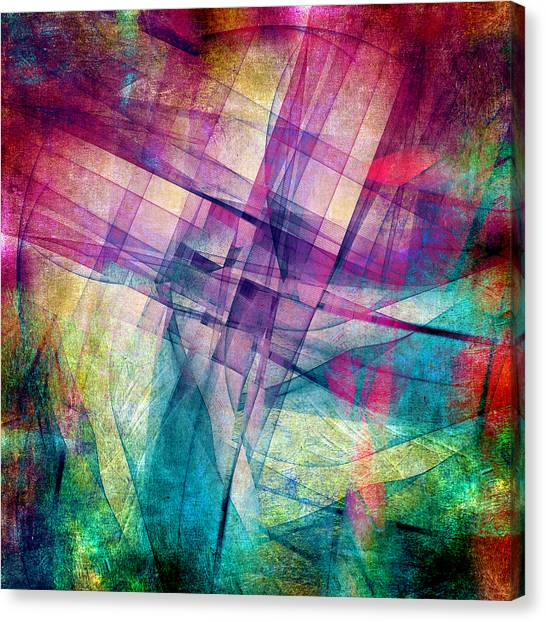 Fractal Canvas Print - The Building Blocks by Angelina Vick