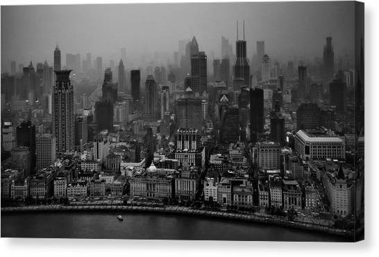 China Canvas Print - The Bund by C.s. Tjandra