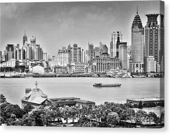 Bund Canvas Print - The Bund by Delphimages Photo Creations
