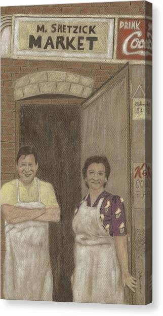 The Butcher And His Wife  Canvas Print