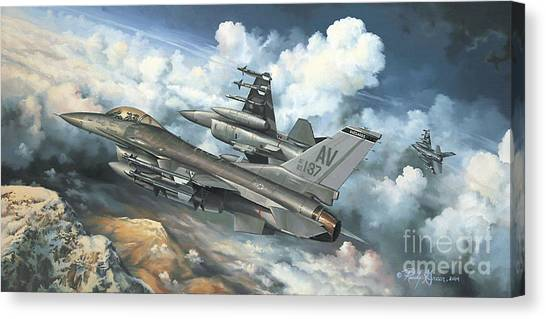 Cockpits Canvas Print - The Buzzard Boys From Aviano by Randy Green