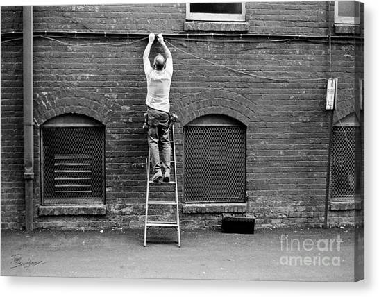 The Cable Man  Canvas Print
