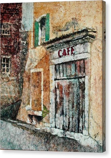 The Cafe Is Closed Canvas Print