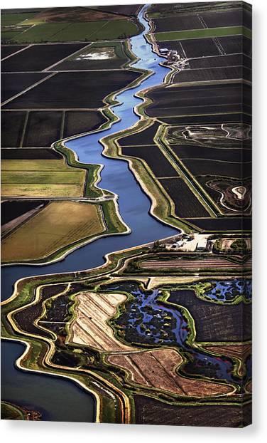 The California Delta Canvas Print by Adrian Mendoza