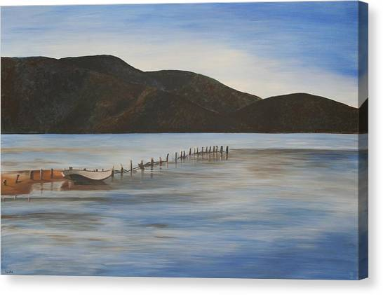 The Calm Water Of Akyaka Canvas Print