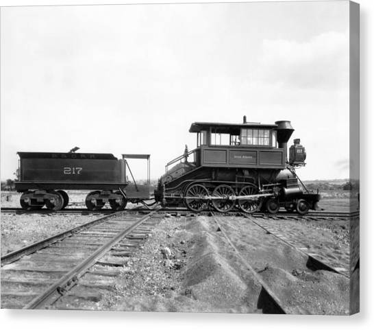 Freight Trains Canvas Print - The Camelback Locomotive by Underwood Archives