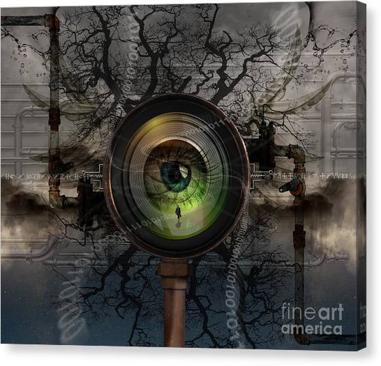 The Camera Eye Canvas Print by Keith Kapple