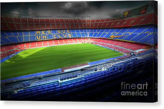 The Camp Nou Stadium In Barcelona Canvas Print