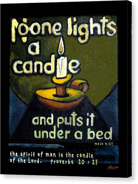 The Candle Canvas Print by Patricia Howitt