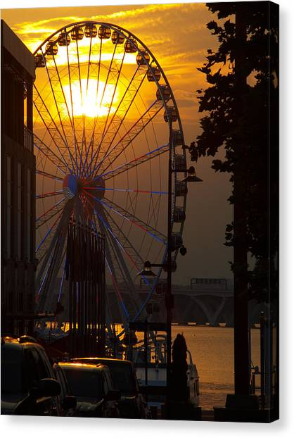 The Capital Wheel Canvas Print
