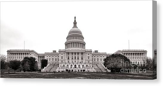 Neoclassical Art Canvas Print - The Capitol by Olivier Le Queinec