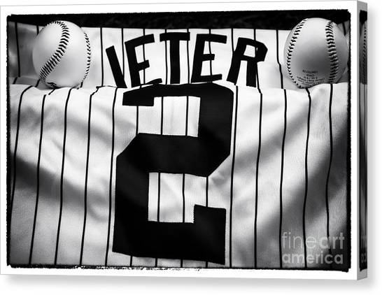 Derek Jeter Canvas Print - The Captain by John Rizzuto