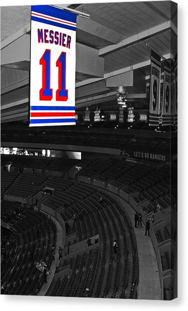 New York Rangers Canvas Print - The Captain Looks Over by Karol Livote