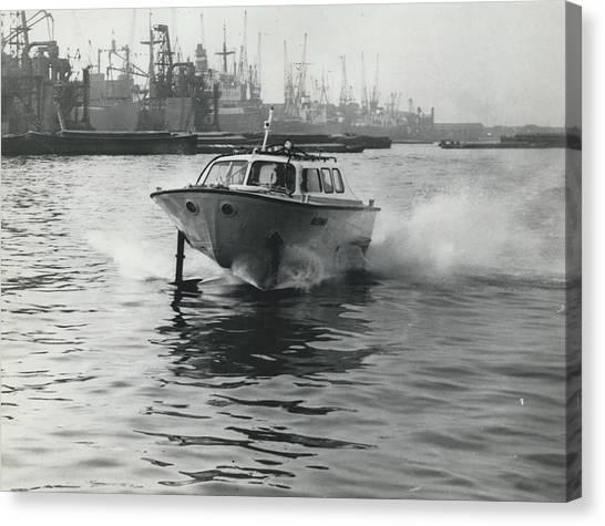 The �captain�s Barge� - 1963 Version Canvas Print by Retro Images Archive