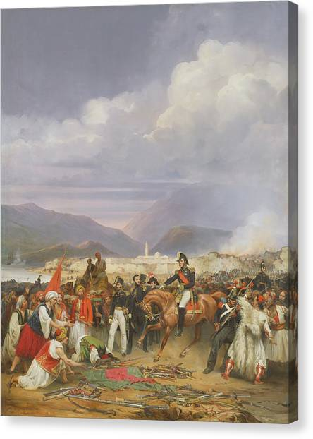 Submission Canvas Print - The Capture Of Morea Castle, 30th October 1828, 1836 Oil On Canvas by Jean Charles Langlois