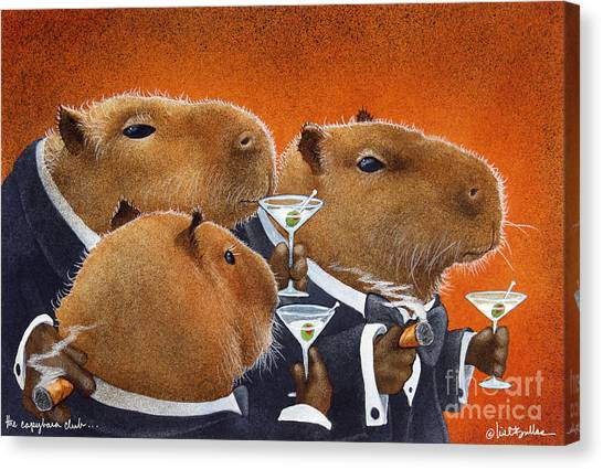 The Capybara Club... Canvas Print