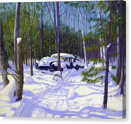 George W. Bush Canvas Print - The Car by Candace Lovely