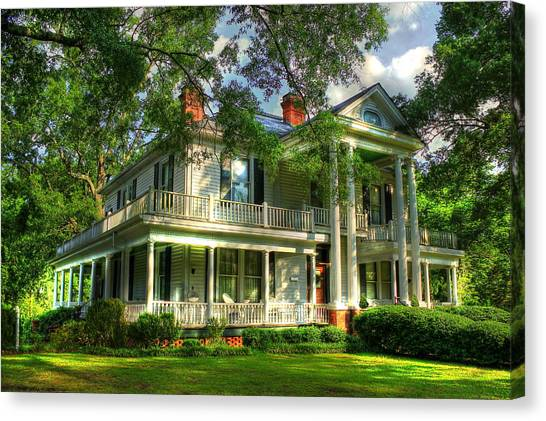 A Southern Bell The Carlton Home Art Southern Antebellum Art Canvas Print