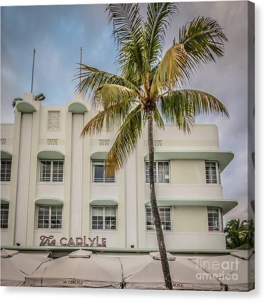 Scarface Canvas Print - The Carlyle South Beach Miami - Art Deco District by Ian Monk