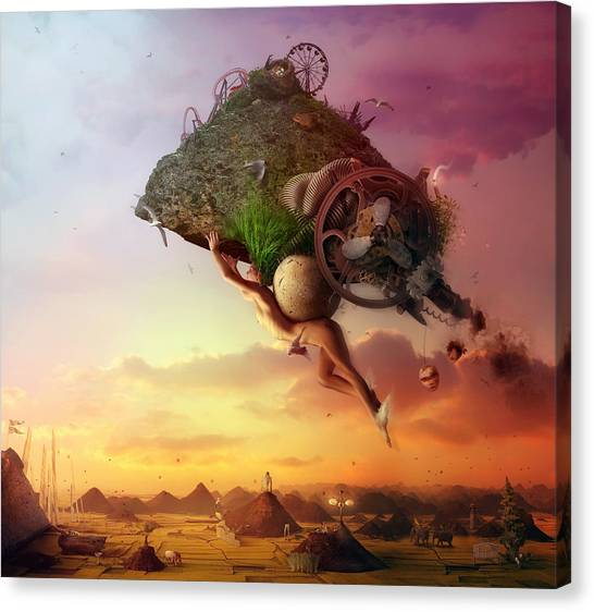 Floating Girl Canvas Print - The Carnival Is Over by Mario Sanchez Nevado