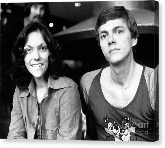 Chris Walter Canvas Print - The Carpenters 1972 by Chris Walter