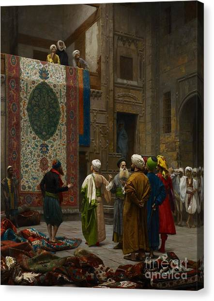Persians Canvas Print - The Carpet Merchant by Jean Leon Gerome