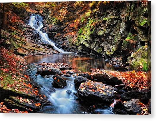 The Cascades Of Chesterfield Gorge Canvas Print