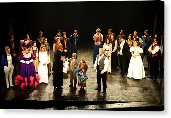 The Cast Of Les Miserables Canvas Print