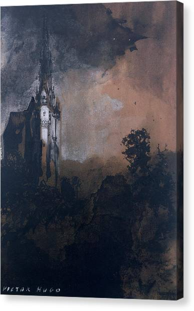 Murky Canvas Print - The Castle In The Moonlight  by Victor Hugo