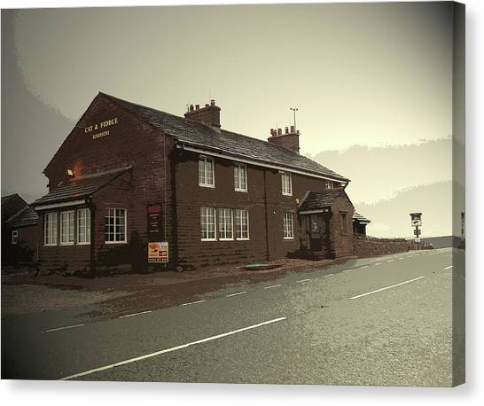 The Cat And Fiddle Public House, Pictured Here Canvas Print by Litz Collection