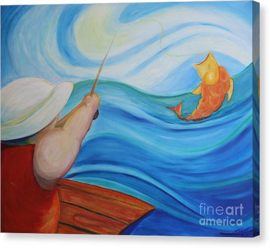 The Catch Canvas Print by Teresa Hutto