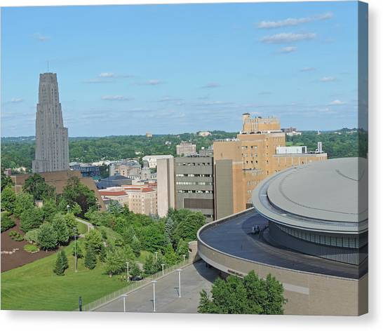 Carnegie Mellon University Canvas Print - The Cathedral Of Learning by Cityscape Photography