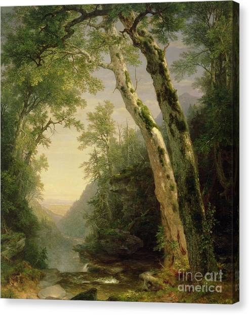 Wilderness Canvas Print - The Catskills by Asher Brown Durand