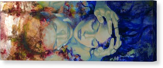 Yin Canvas Print - The Celestial Consonance by Dorina  Costras