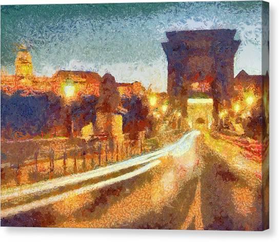 The Chain Bridge Canvas Print