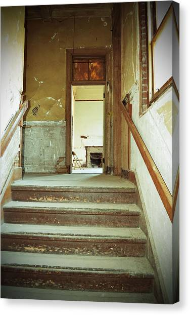 The Chair At The Top Of The Stairs Canvas Print