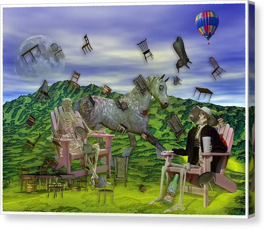 City Of The Dead Canvas Print - The Chairs Of Oz by Betsy Knapp