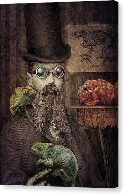 Camouflage Canvas Print - The Chameleon Collector by Eric Fan