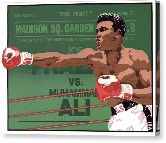 Clay Canvas Print - The Champ by Anne Gifford