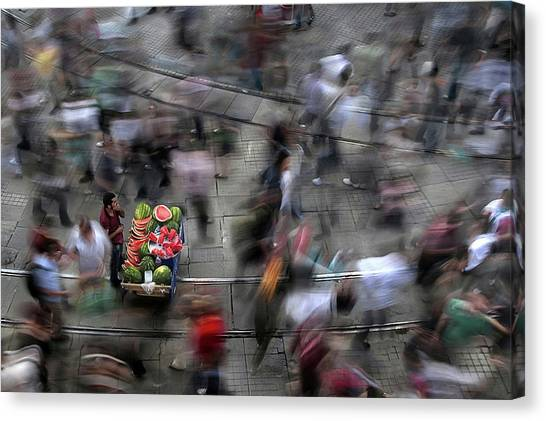 Melons Canvas Print - The  Chaos Of The City by Fatih Balkan