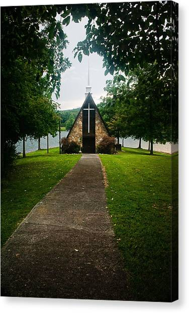The Chapel On The Lake Canvas Print