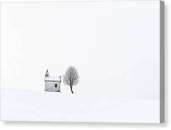 Bright Canvas Print - The Chapel by Tom Meier
