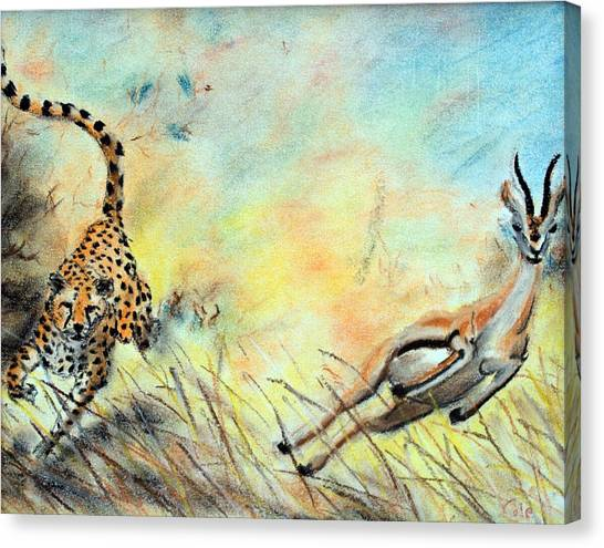 The Chase Is On Canvas Print by Nathan Cole
