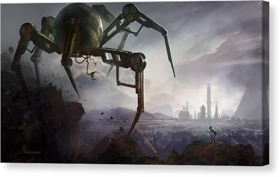 City Landscape Canvas Print - The Chase by Kristina Vardazaryan
