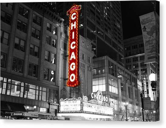 The Chicago Theatre Canvas Print