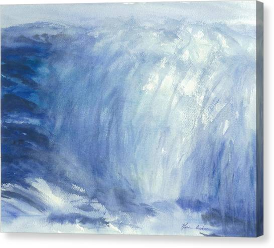 The Chill Of The Winters Sea Canvas Print by Karen  Condron