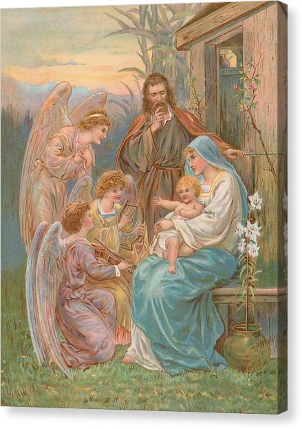 Messiah Canvas Print - The Christ Child by English School