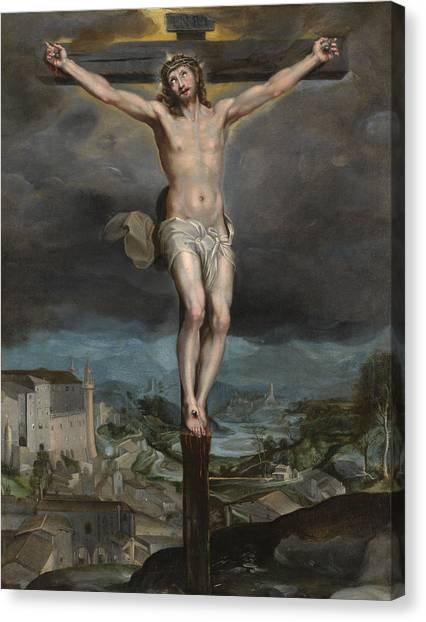 Messiah Canvas Print - The Christ Expiring On The Cross by Federico Barocci