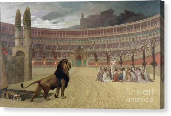 The Amphitheatre Canvas Print - The Christian Martyrs Last Prayer by Jean Leon Gerome